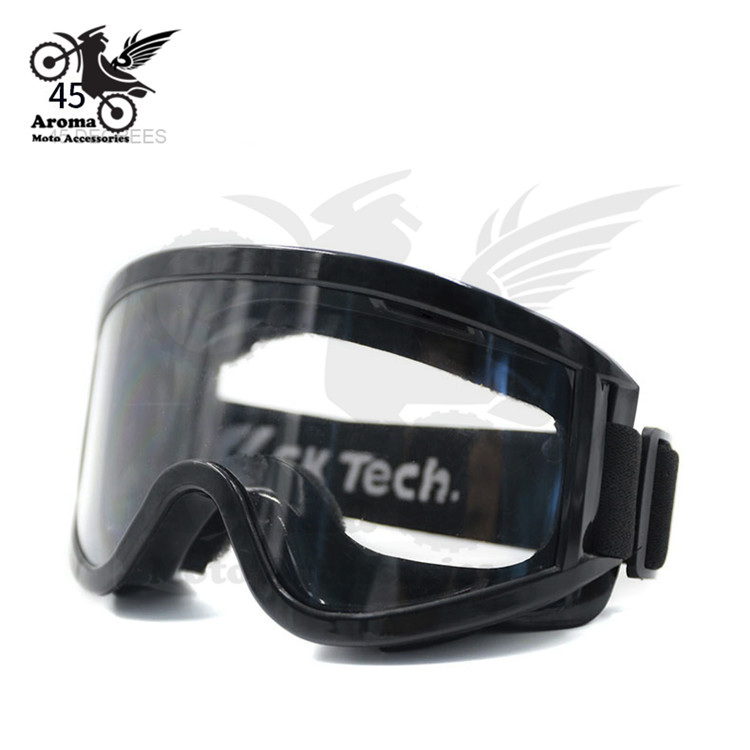 Windproof motocross clear lens motorbike glasses Ski Goggles bicycle Snowboard eye protection riding racing motorcycle Goggle adjustable windproof elastic band night vision goggles glass children protection glasses green lens eye shield with led