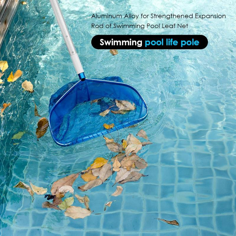Pool Leaf Cleaning Net Skimmer With Telescopic Pole Detachable For Spa Koi Fish Pond Tub Cleaning Sewage Fishing Nets