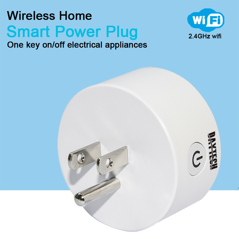 DAYTECH Smart WiFi Plug APP Control Wi-Fi Mini Outlet Socket Adpater Remote Control Outlet with Timing Function US Plug ...