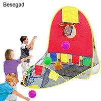 Складной Pop Up Спорт Цель Баскетбол Стрельба палатка w/4 мяча для детей детские игрушки подарки праздник в доме и под открытым небом игры Competiton