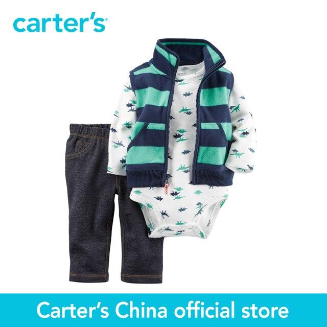 Картера 3 шт. детские дети дети Руно Жилет Установить 121G872, продавец картера Китай официальный магазин