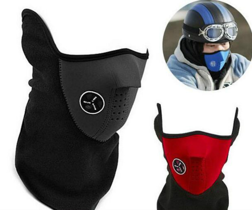 Motorcycle Half Face Mask Cover Fleece Unisex Ski Snow Moto Cycling Warm Winter Neck Guard Scarf Warm Protecting Mask unisex winter warm fleece full face mask head cover neck warmer scarf hat ski cycling motorcycle balaclava caps outdoor sports