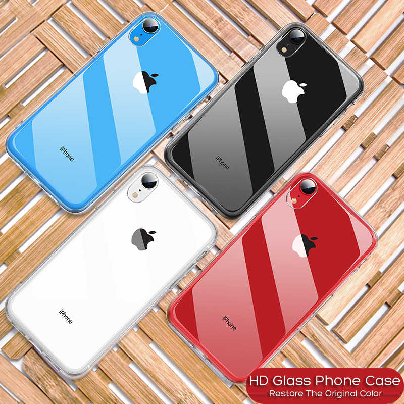 10D Luxe Gehard Glas Case Voor Apple iPhone 7 8 Plus iPhone 7 6 6s Case Capinhas Cover Coque voor iPhone XS MAX XR X 10 Case