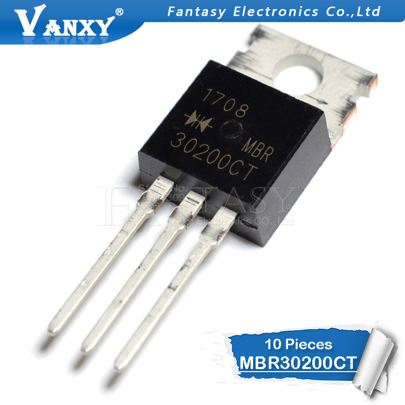 10pcs MBR30200CT TO-220 MBR30200 TO220 MBR30200C 200V 30A New Original