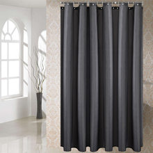 Dark Grey Shower Curtain Solid Color Waterproof Bath Curtains Bathroom For Bathtub Bathing Cover Extra Large Wide 12pcs Hooks(China)