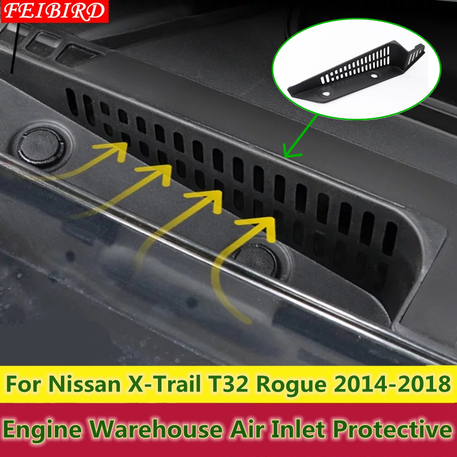 ABS Plastic Engine Warehouse Air Inlet Protective Cover Trim For Nissan X-Trail X Trail T32 Rogue 2014 2015 2016 2017 2018 fog light lamp kit for nissan rogue x trail x trail 2014 2015 2016