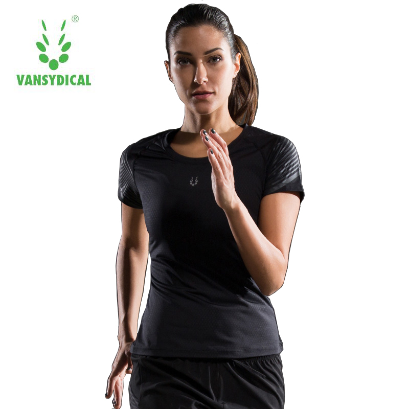 2017 Sale New Women Sports Fitness Gym Clothing Female Breathable Stretch Yoga Training Tights Short Sleeves Running T-shirt