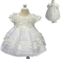 O envio gratuito de baixo preço 3 m-12 m infantil vestidos 2017 chegada nova baby dress bordado newborn baptizado para as meninas 1 anos