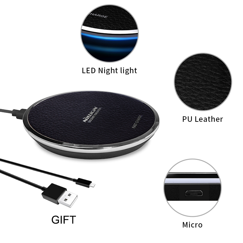 10 W Schnelle Qi Drahtlose Ladegerät Pad NILLKIN für iPhone X/8/8 Plus für Samsung Note 8 /S8/S8 Plus qi drahtlose ladegerät tragbare power