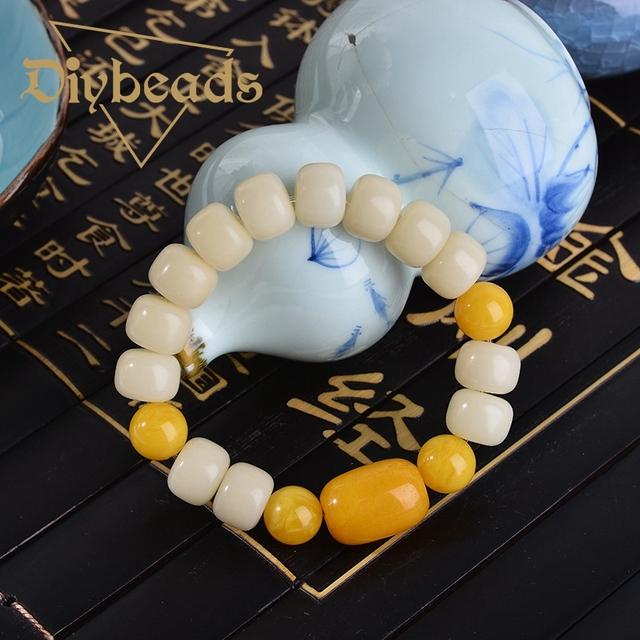 Moda Pu Tizi Com Colo de Cera De Abelha Pulseira Pedra Natural Pulseiras Grânulos de Charme Jóias Presentes Diybeads