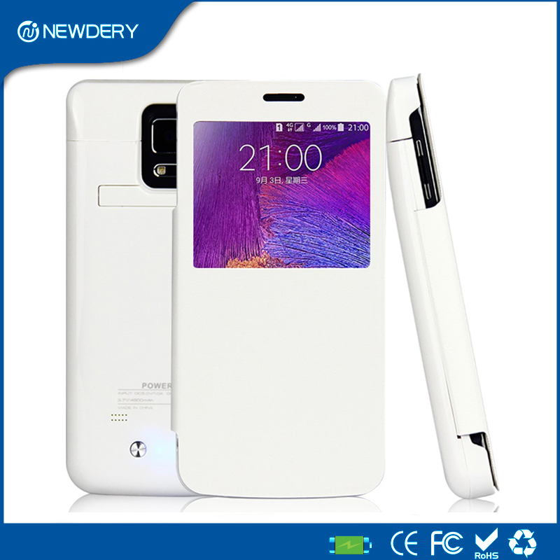 Extended Power bank Pack Charger Case For Samsung Galaxy Note4 N9100 4800mAh battery Charging Protective cover with Stand Note 4