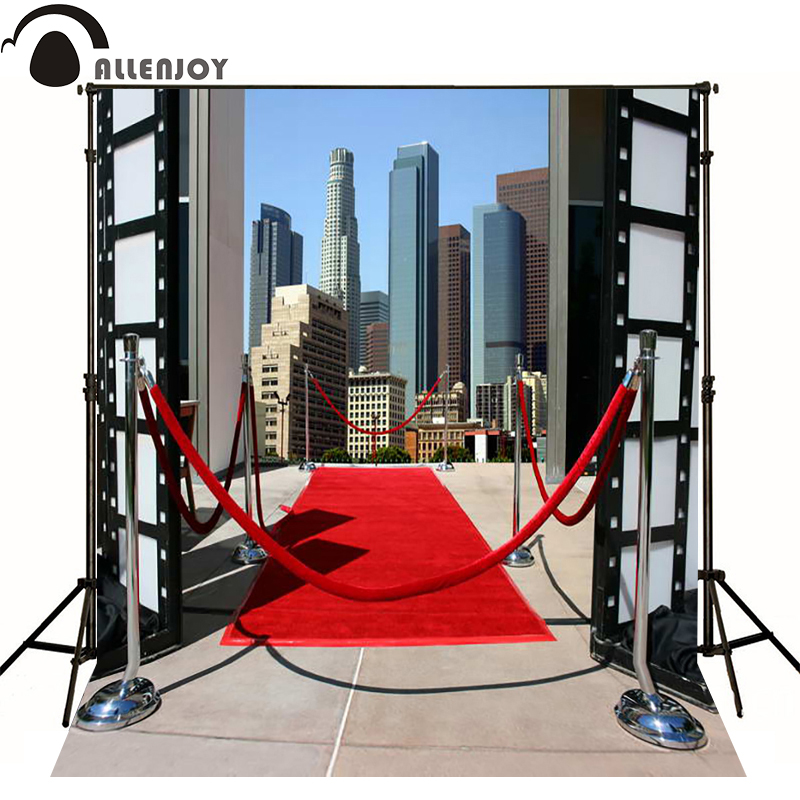 Allenjoy photographic background City high-rise red carpet party photography fantasy send folded high quality Private party
