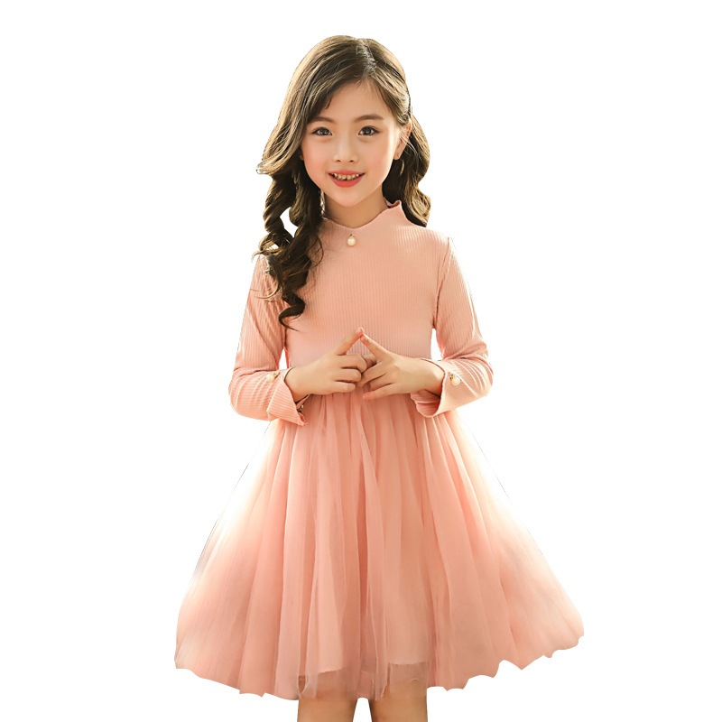 2018 spring autumn children girls long sleeve dresses