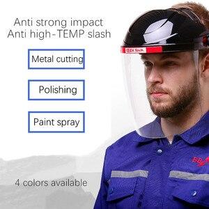 Image 1 - Safety Cutting Polish Mask Helmet Full face Protective Transparent PC Anti Chemical Oil Splash Dust UV Resistant Pesticide Spray