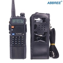 Расширенный кожаный мягкий чехол кобура для Baofeng UV-5R UV-5RA серии с 3800 мАч батареи двухстороннее радио Walkie Talkie FM TYT