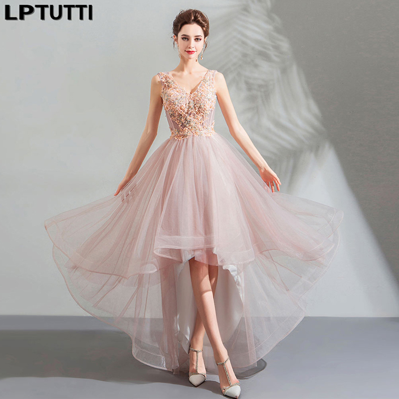 LPTUTTI Embroidery Crystal Gratuating New For Women Elegant Date Ceremony Party Prom Gown Formal Gala Luxury Long Evening Dress