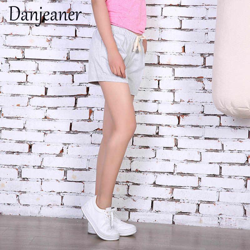 Danjeaner elastyczny pas kobiet spodenki Fashion Lady Sexy letnie spodenki wysokiej talii krótkie bawełniane spodenki Femme ete 2018