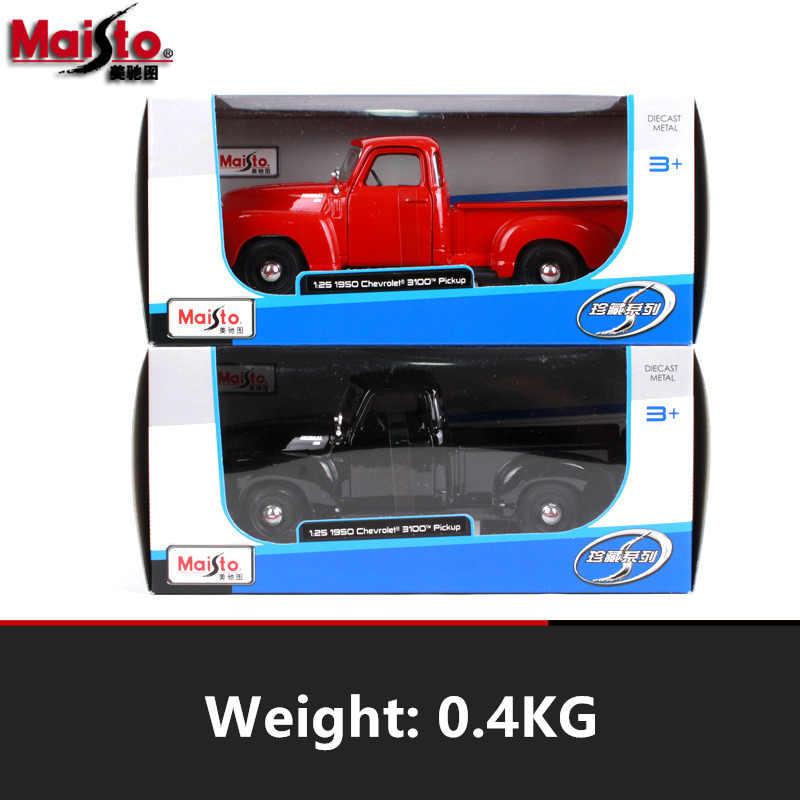 Maisto 1:24 Chevrolet retro pickup Simulatie legering super speelgoed auto model Voor met stuurbediening voorwielbesturing speelgoed