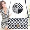 4 Colores Superventas del Diseño Del Cocodrilo Bolsas de Mensajero de Las Mujeres Elegantes Leopard Chica Embrague Bolsa de Dama de La Moda de Cebra Bolso Del Sobre H128