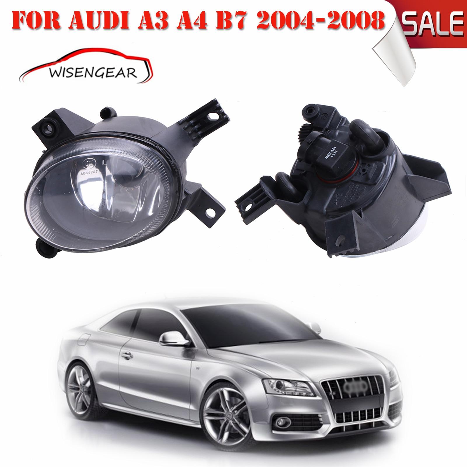 Car Light Front Fog Light Lamps Left & Right For Audi A3 A4 B7 2004-2008 OEM 8E0941700 + 8E0941699 C/5 right side front fog light headlight for audi a3 s3 s line a4 b7 2004 2005 2006 2007 2008 oem 8e0941700 car accessory p318 r