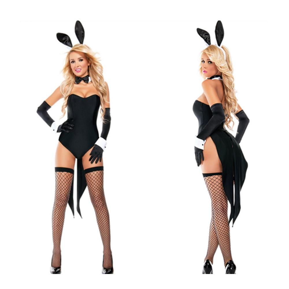 Halloween Cute Bunny Cat Uniform Set <font><b>COS</b></font> <font><b>Sexy</b></font> Nightclub Show Set Adult Cosplay Party DS Nightclub Queen <font><b>Sexy</b></font> Stage Show Costume image