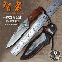Handmade forged 60 HRC VG10 Damascus steel Straight fixed knife hunting knives Outdoor High hardness knife Survival knives