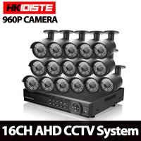 CCTV system 16ch dvr kit 16channel 1080p HDMI DVR with 16 X 1.3MP Outdoor waterproof 2500TVL Security Camera surveillance System