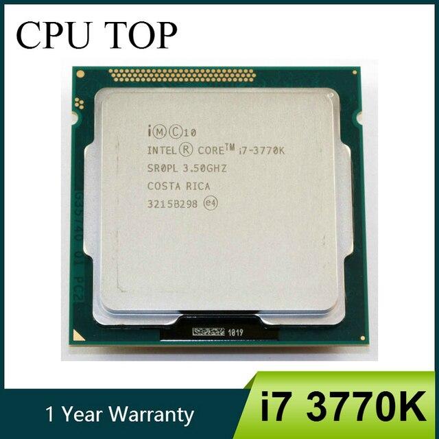 Intel processador i7 quad core, 3770k lga 1155 3.5ghz 8mb de cache com gráfico hd 4000 tdp 77w desktop cpu
