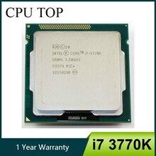 معالج إنتل i7 3770K رباعي النواة LGA 1155 3.5GHz 8MB مخبأ مع رسومات عالية الدقة 4000 TDP 77 واط وحدة معالجة مركزية لسطح المكتب