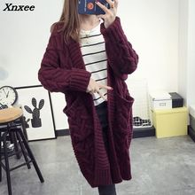 2018 Cardigans Of the Big Sizes Women Casual Lady Solid Sweater O-neck For Female Xnxee
