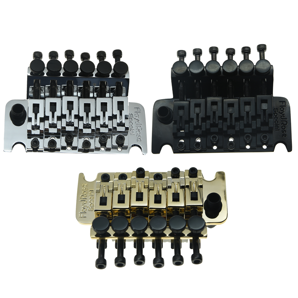 KAISH Genuine Floyd Rose Special Guitar Locking Tremolo Bridge System with R2 or R3 Nut Chrome/Black/Gold new floyd rose special frs5000 tremolo black tremolo