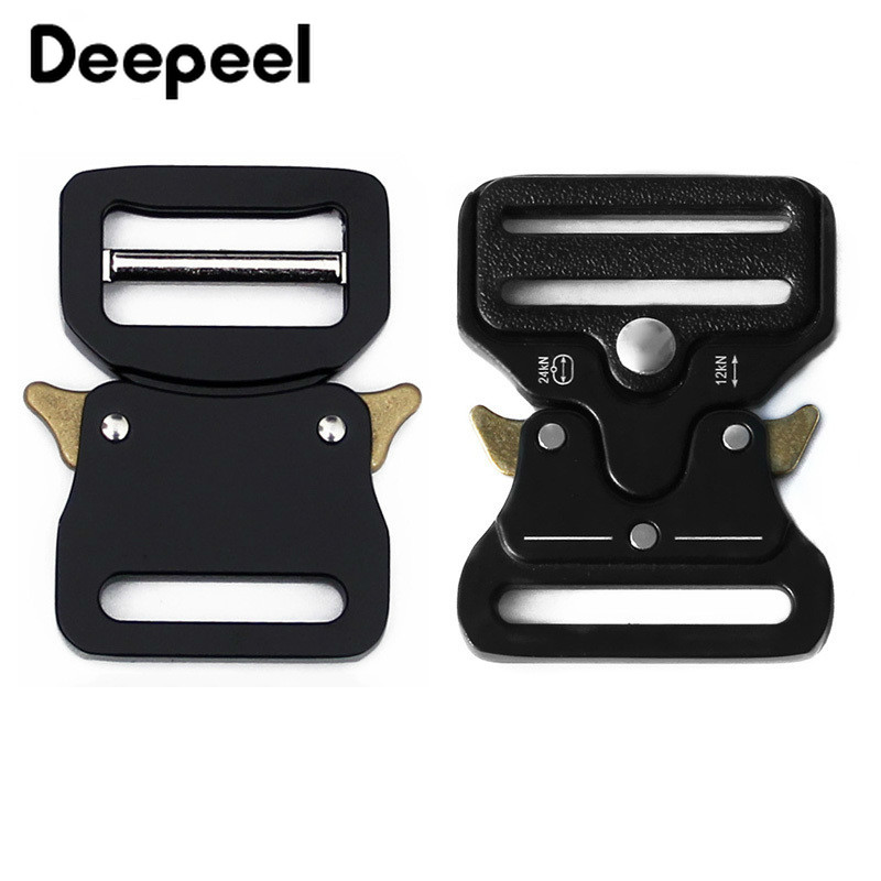 Deepeel 33mm Metal Quick Side Release Buckles Alloy Black Outdoor Belt Backpack Webbing Clasp Hook Clips Hardware DIY Accessory