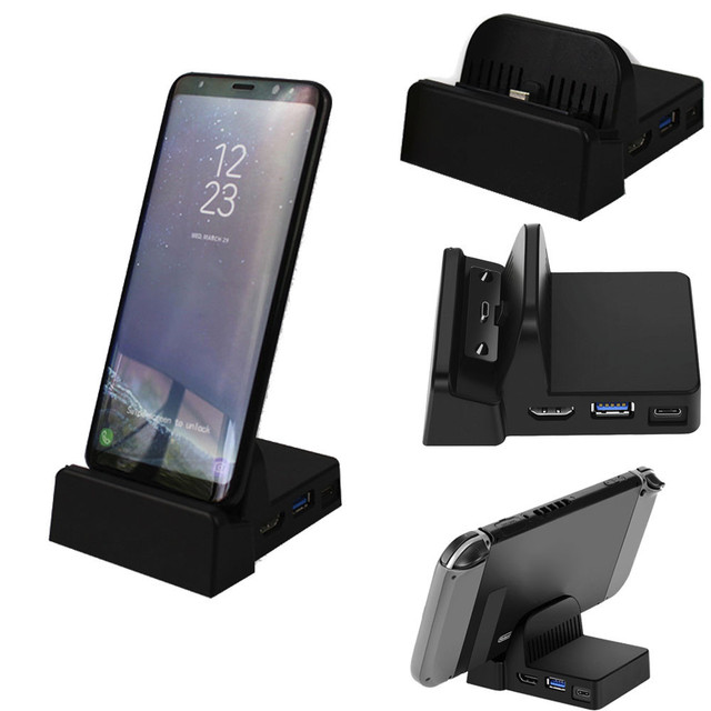 separation shoes e9a19 f3c1d US $25.62 27% OFF HDMI Dex Station Desktop Extension Charging Dock For  Samsung S8 S8 Plus + Note 8 Mini size replacement For Nintendo Switch  Dock-in ...