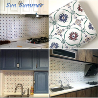 Bohemian Kitchen Bathroom Bathroom Waterproof Stickers Renovation Tile Wall Stickers Self adhesive Wall Paper Stickers