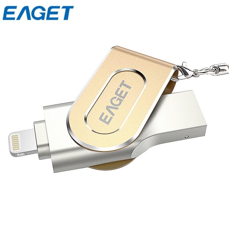 Prix pour 100% original eaget i80 pour iphone otg clé mini 64g usb 3.0 mémoires flash drives organizer external storage 2.0 32gb expansion pendrive de 128 gb capacité pour iphone / ipad micro gros stylo drive