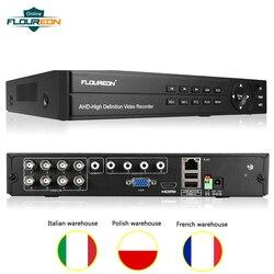 1 pces 1080 p 1080n dvr gravador de vídeo digital 8ch vigilância de vídeo 5 em 1 tvi/cvi/ahd/analógico/ip câmera de vídeo de segurança em casa dvr