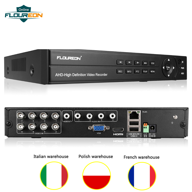1pcs 1080P 1080N DVR Digital Video Recorder 8CH Video Surveillance 5 In 1 TVI/CVI/AHD/Analog/IP Camera Home Security Video DVR