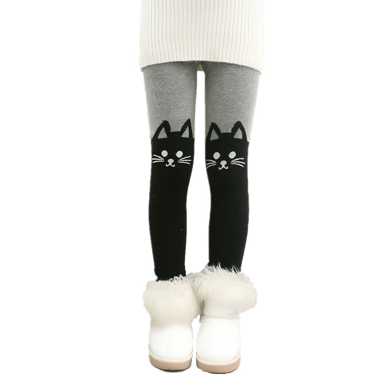 Autumn Winter Clothing Baby Girls Leggings Children Pants Thick Warm Bottom Leggins Teenager Kids Clothes Leggings Girl Trousers 4t 14t children s clothing pants leggings warm three layers plus plush thickening cotton baby girl clothes winter children