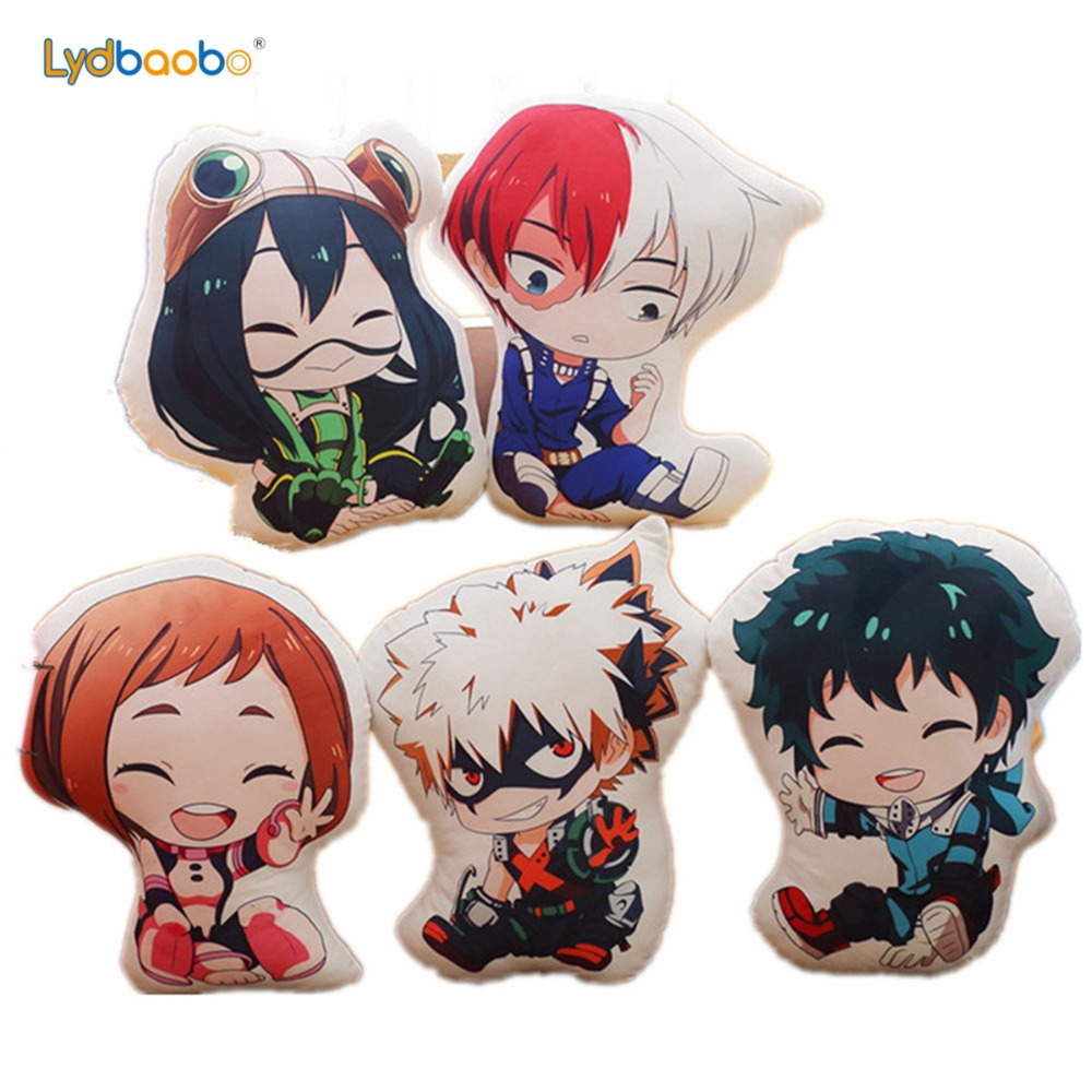 My Hero Academia Anime Boku Yoh Asakura Katsuki Bakugo Shoto Toooroki Dolls Pillow Crush Stuffed Toys Plush Girl Kids Soft Gifts