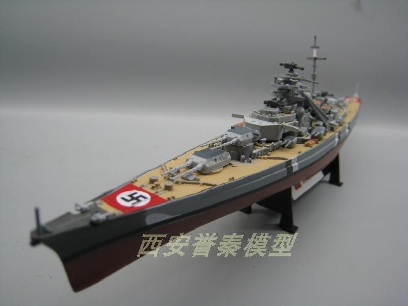 AMER 1/1000 Military Model Toys World War II HMS Hood / KMS Bismarck Battleship Diecast Metal Warship Model Toy For Collection
