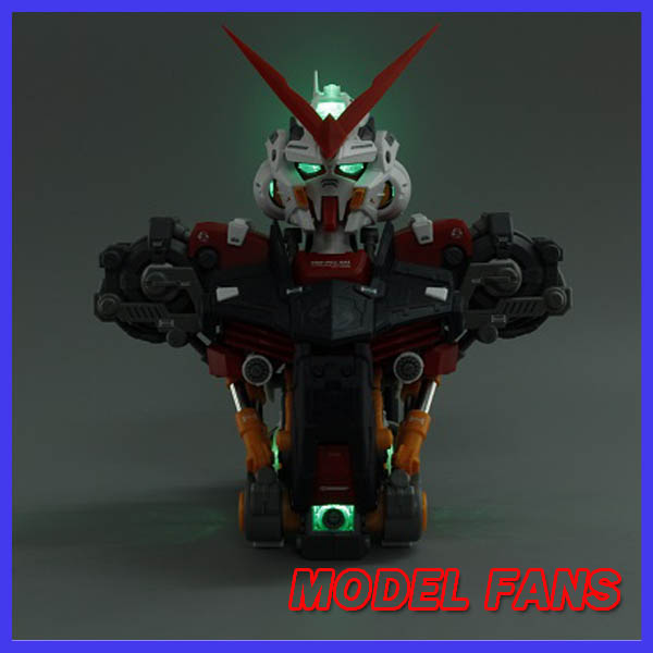 MODEL FANS Motor King model 1/35 Seed Gundam Astray Red Frame bust Head bust statue / Assembled gundam model Robot gunpla pop art style leopard print pattern square shape pillowcase
