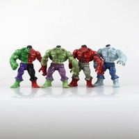 Marvell The Avengers Super Hero Hulk Hulkbuster 4 Pieces Set Action Figure 12cm Without Retail Box