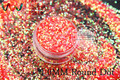 TCR52  American Fantasy Iridescent  Peach Red glitter dust Round Dot  Shape  for nail Art or other DIY decoration