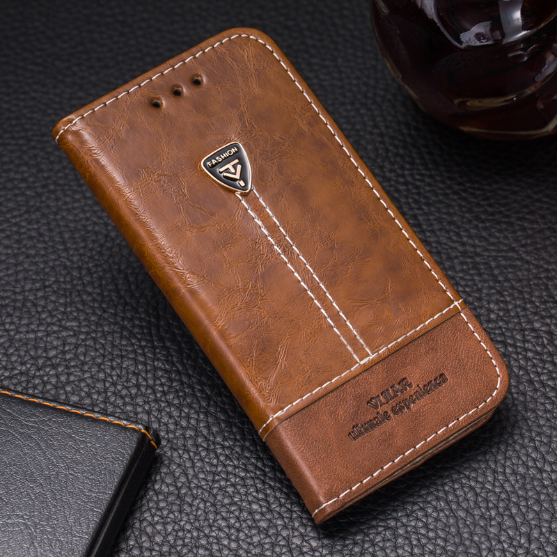 VIJIAR New style original High taste flip PU leather Touch feel goodl contracted phone back cover 5.4'For BlackBerry Priv case(China)
