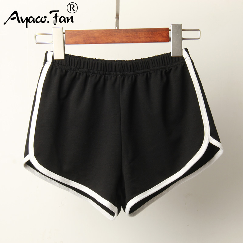 Sports Shorts Women Summer 2019 New Candy Color Anti Emptied Skinny Shorts Casual Lady Elastic Waist Beach Correndo Short Pants 4