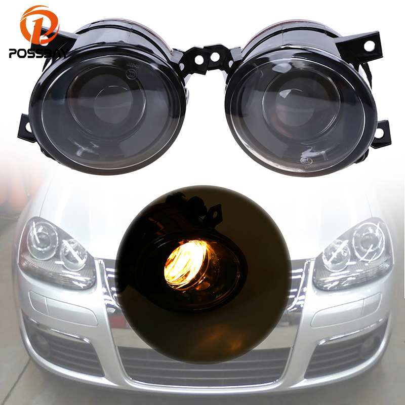 POSSBAY Left/Right Front Convex lens Fog Lamp Foglight 9006 Bulb Fit for VW Jetta/Golf MK5 Fog Light Assembly все цены