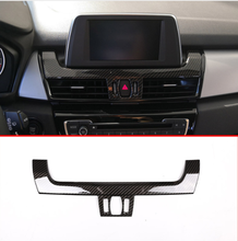 Carbon Fiber Style ABS Navigation Display Panel Cover Trim Accessories For BMW 2 Series Gran Tourer F45 F46 218i 2014-2018