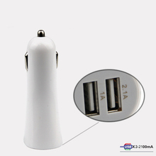 Dual Usb Car Charger Metal Alloy Mini Led Universal 12V 3.1A Twin Port Adapter C05