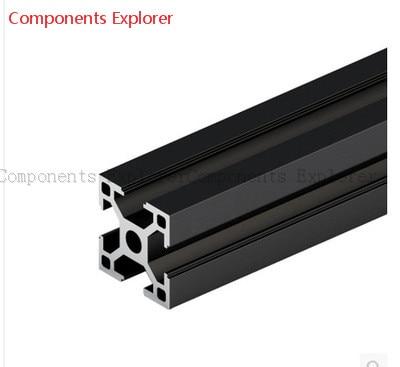 Arbitrary Cutting 1000mm 3030 Black Aluminum Extrusion Profile,Black Color.