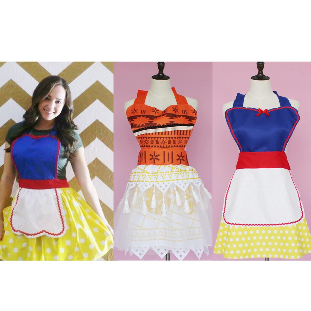 Adult Princess Anime Women Costumes Cosplay Cartoon Alice Belle Sophia Apron Dresses